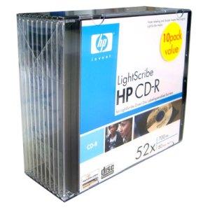 CD-R LightScribe 700MB 52X Versão 1.2 Pack c/ 10 unidades HP