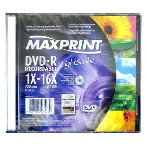 DVD-R MAXPRINT LIGHTSCRIBE 16X LACRADO SLIM